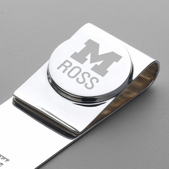Michigan Ross Sterling Silver Money Clip - Image 2
