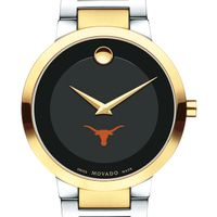 University of Texas Men's Movado Two-Tone Modern Classic Museum with Bracelet
