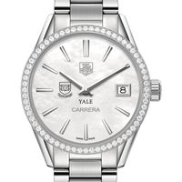 Yale Women's TAG Heuer Steel Carrera with MOP Dial & Diamond Bezel