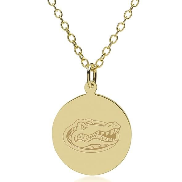 Florida 14K Gold Pendant & Chain - Image 1