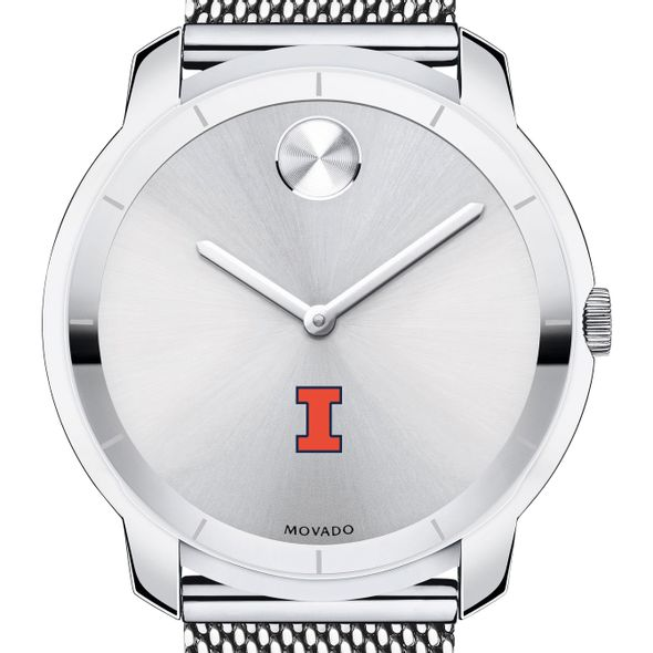 University of Illinois Men's Movado Stainless Bold 44