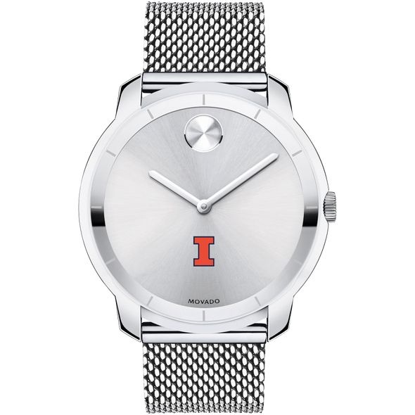 University of Illinois Men's Movado Stainless Bold 44 - Image 2