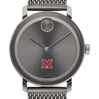 Miami University Men's Movado BOLD Gunmetal Grey with Mesh Bracelet