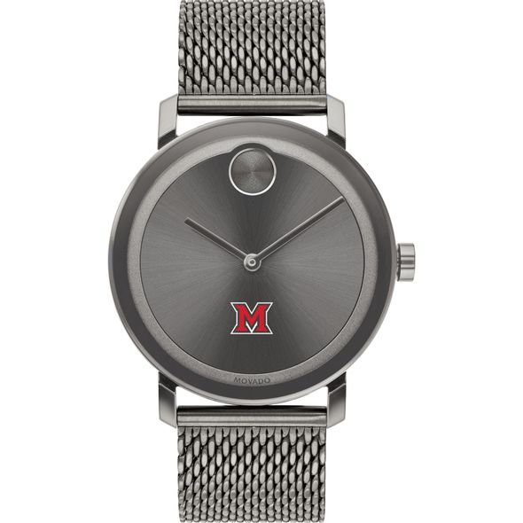 Miami University Men's Movado BOLD Gunmetal Grey with Mesh Bracelet - Image 2