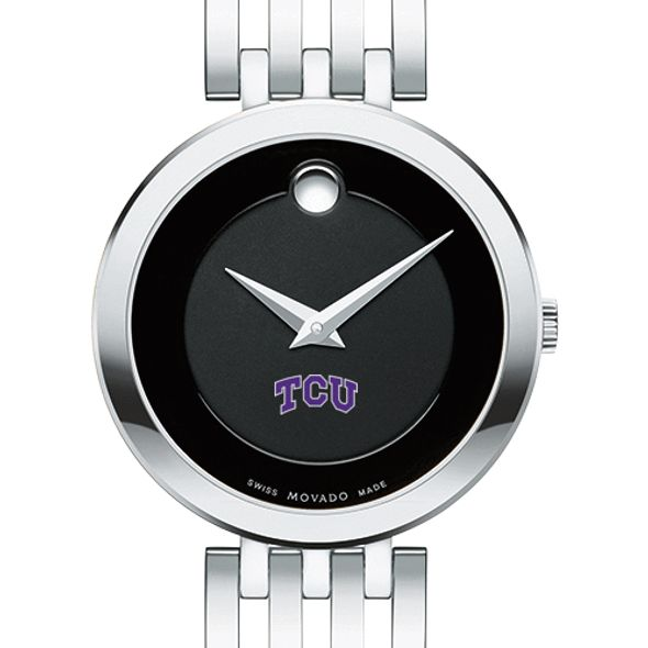 Texas Christian University Women's Movado Esparanza Stainless Steel Museum with Bracelet
