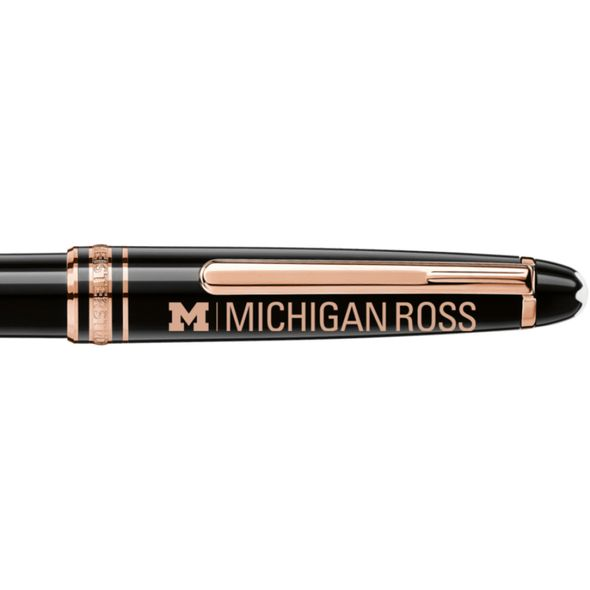 Michigan Ross Montblanc Meisterstück Classique Ballpoint Pen in Red Gold - Image 2