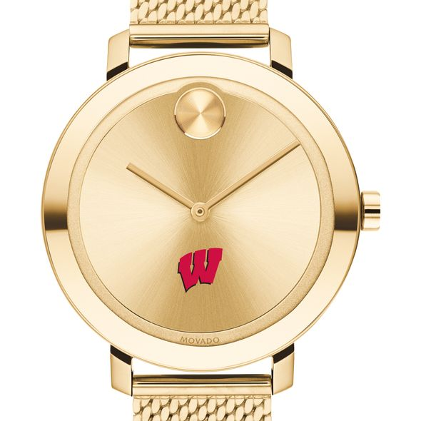 Wisconsin Women's Movado Bold Gold with Mesh Bracelet - Image 1