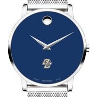 Boston College Men's Movado Museum with Blue Dial & Mesh Bracelet