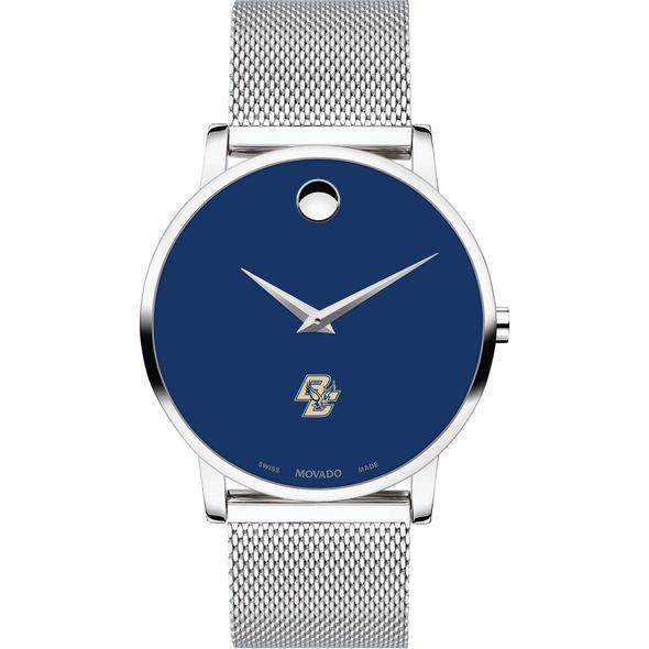 Boston College Men's Movado Museum with Blue Dial & Mesh Bracelet - Image 2