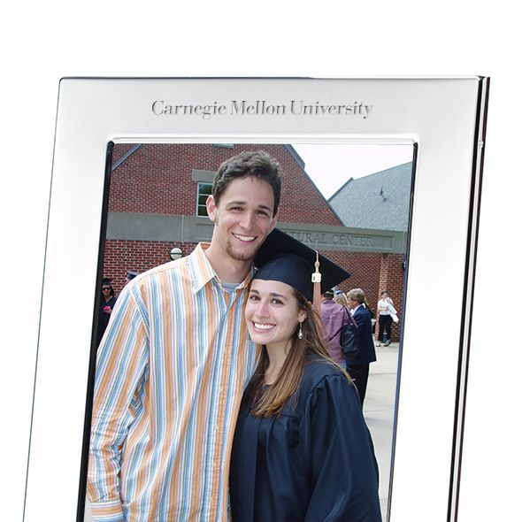 Carnegie Mellon University Polished Pewter 5x7 Picture Frame - Image 2