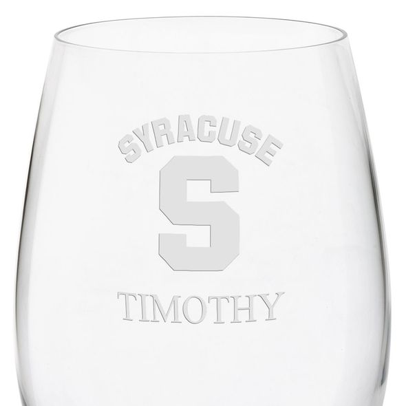 Syracuse University Red Wine Glasses - Set of 4 - Image 3