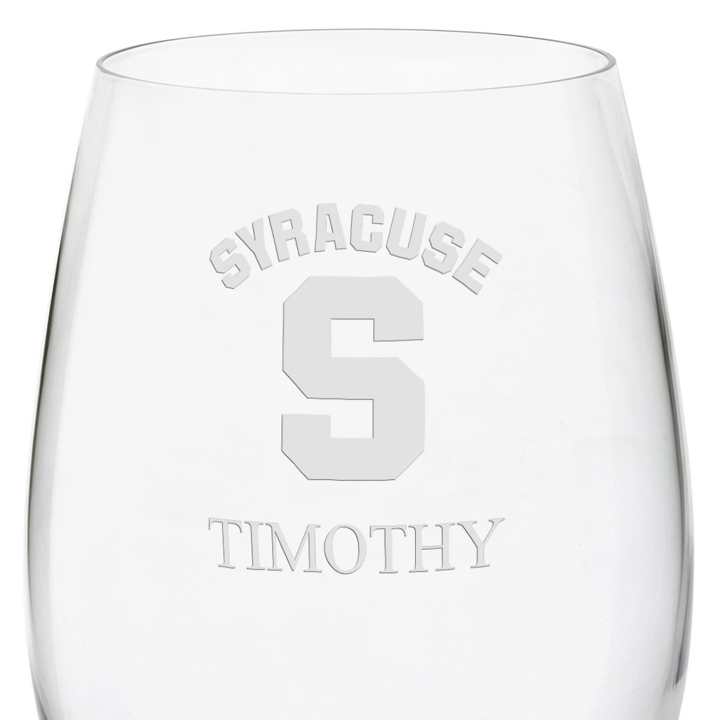 Syracuse University Red Wine Glasses - Set of 4 - Image 3