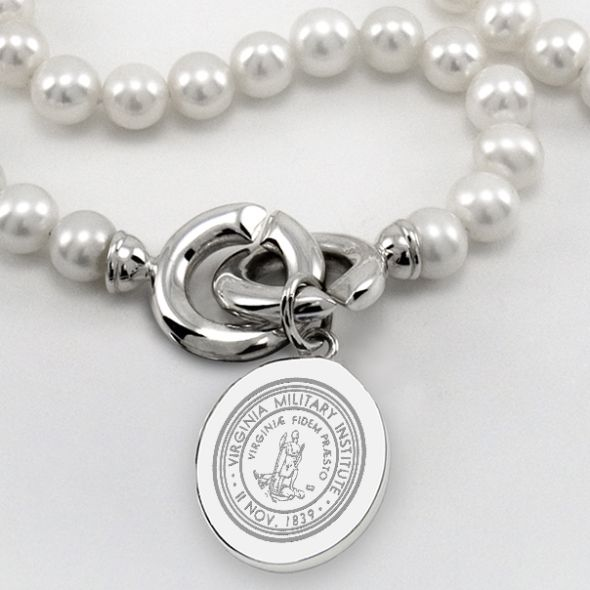 VMI Pearl Necklace with Sterling Silver Charm - Image 2