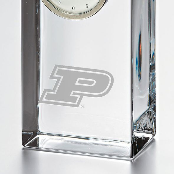 Purdue University Tall Glass Desk Clock by Simon Pearce - Image 2
