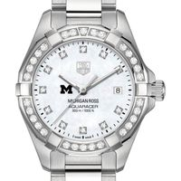 Michigan Ross Women's TAG Heuer Steel Aquaracer with MOP Diamond Dial & Bezel