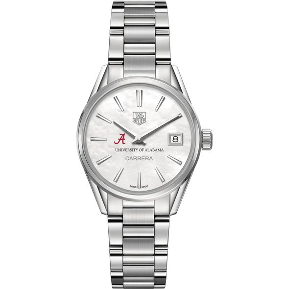 University of Alabama Women's TAG Heuer Steel Carrera with MOP Dial - Image 2