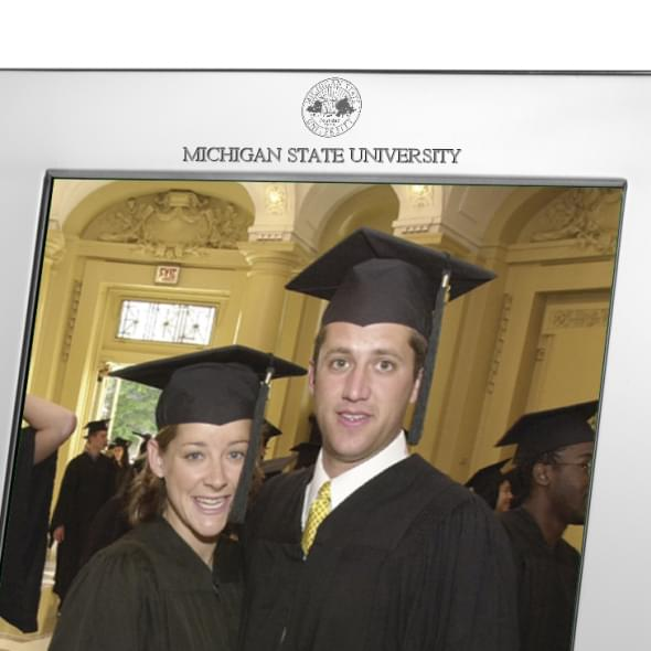 Michigan State Polished Pewter 8x10 Picture Frame - Image 2