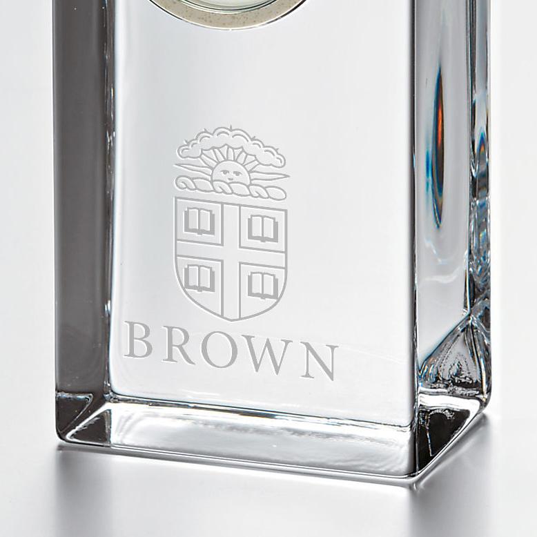 Brown Tall Desk Clock by Simon Pearce - Image 2