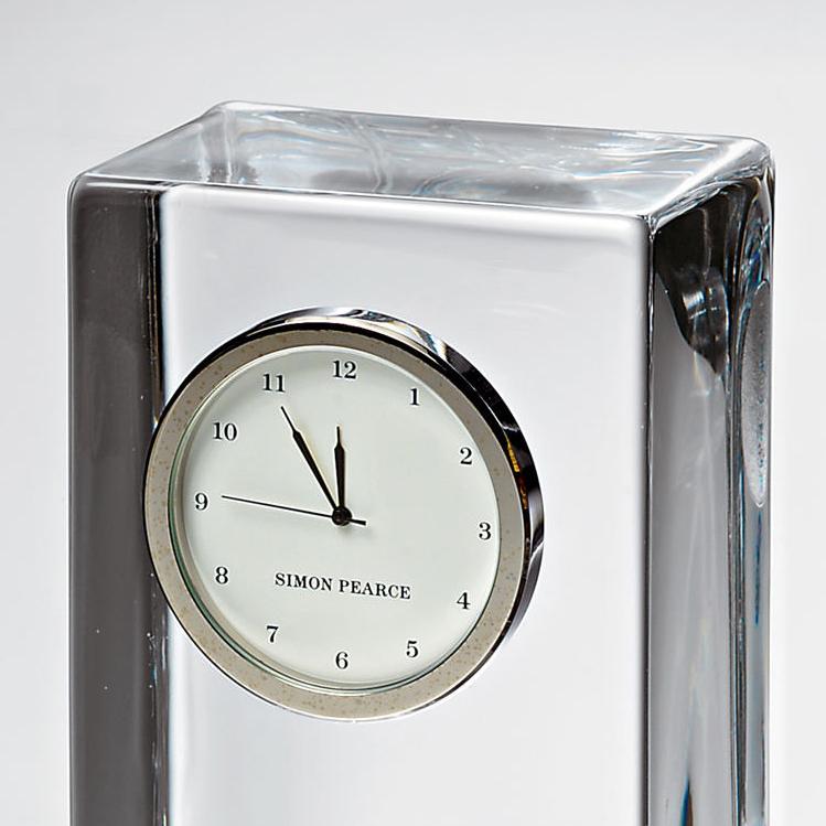 Brown Tall Desk Clock by Simon Pearce - Image 3