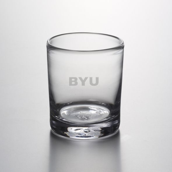 Brigham Young University Double Old Fashioned Glass by Simon Pearce