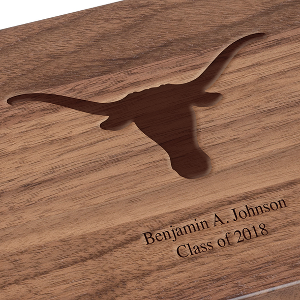 University of Texas Solid Walnut Desk Box - Image 3
