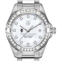 University of Wisconsin W's TAG Heuer Steel Aquaracer with MOP Dia Dial & Bezel - Image 1