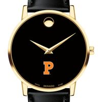 Princeton University Men's Movado Gold Museum Classic Leather