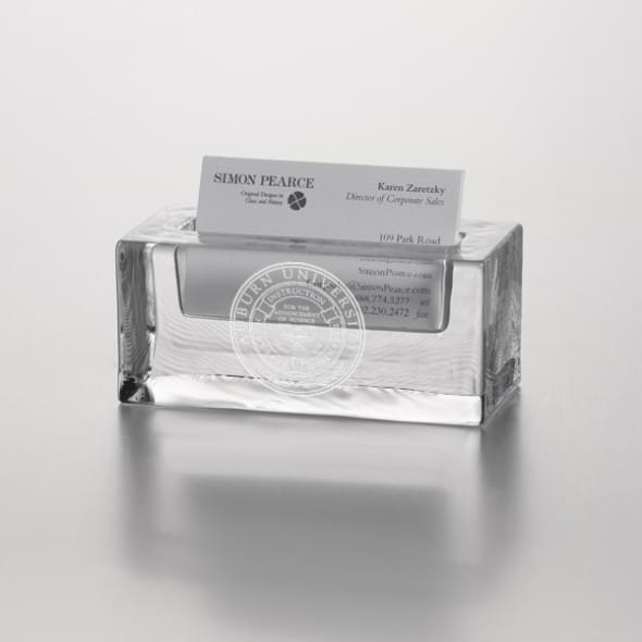 Auburn Glass Cardholder by Simon Pearce
