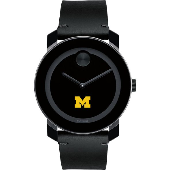 University of Michigan Men's Movado BOLD with Leather Strap - Image 2