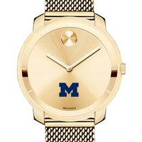 University of Michigan Women's Movado Gold Bold 36
