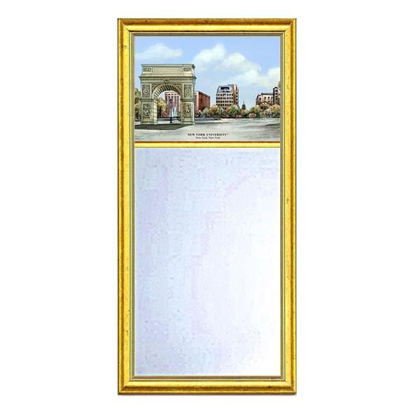 NYU Eglomise Mirror with Gold Frame