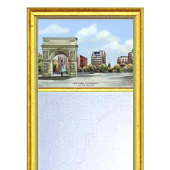 NYU Eglomise Mirror with Gold Frame - Image 2
