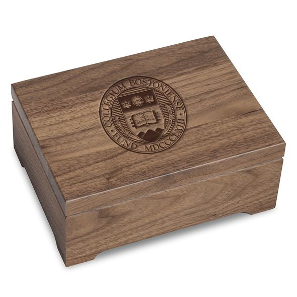 Boston College Solid Walnut Desk Box
