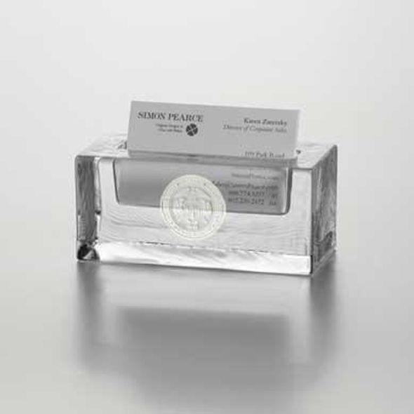 USMMA Glass Business Cardholder by Simon Pearce