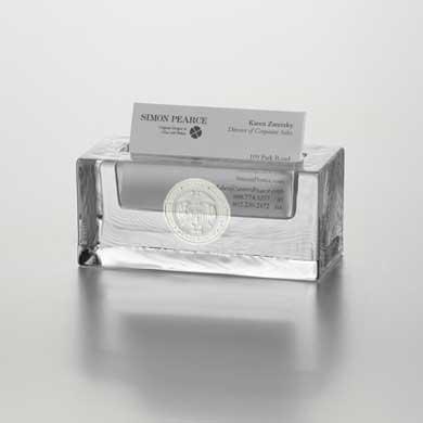 USMMA Glass Business Cardholder by Simon Pearce