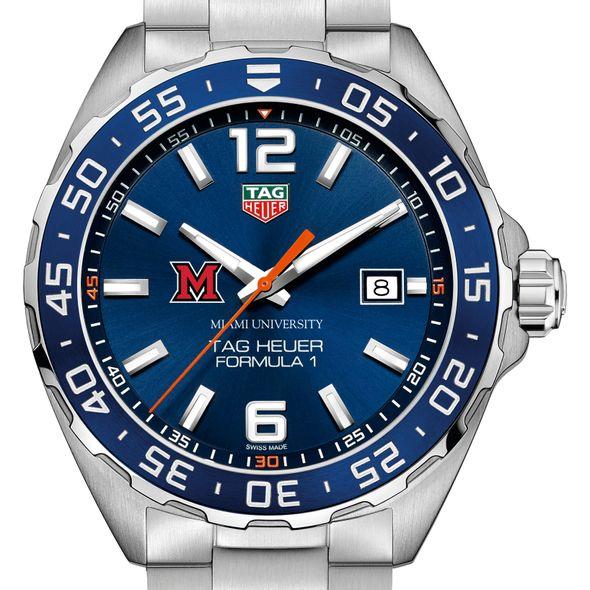 Miami University Men's TAG Heuer Formula 1 with Blue Dial & Bezel