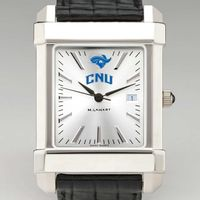 Christopher Newport University Men's Collegiate Watch with Leather Strap