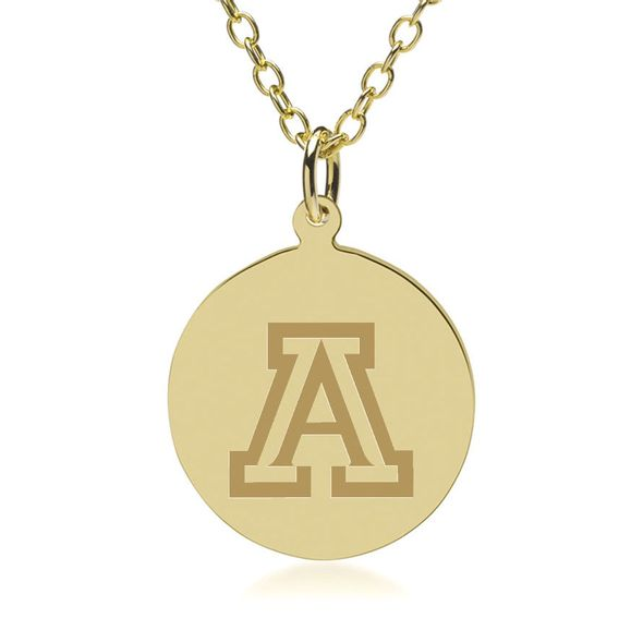 University of Arizona 18K Gold Pendant & Chain