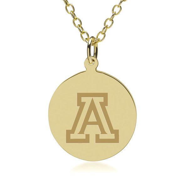 University of Arizona 18K Gold Pendant & Chain - Image 1