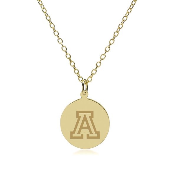 University of Arizona 18K Gold Pendant & Chain - Image 2