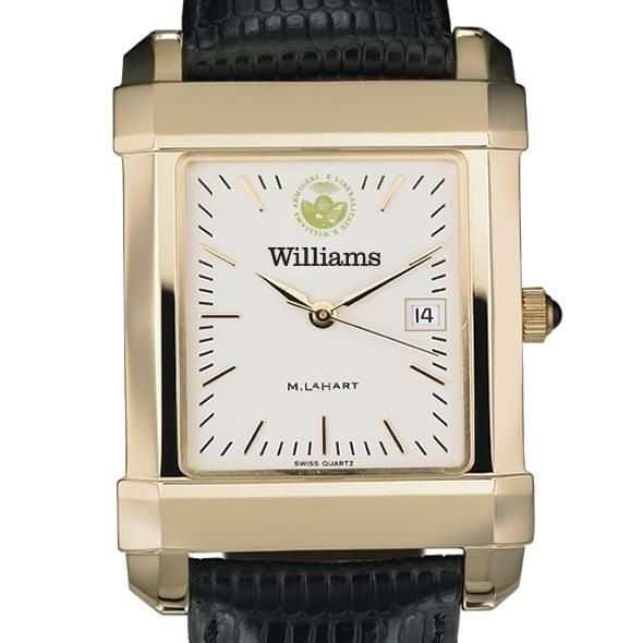 Williams College Men's Gold Quad with Leather Strap - Image 1