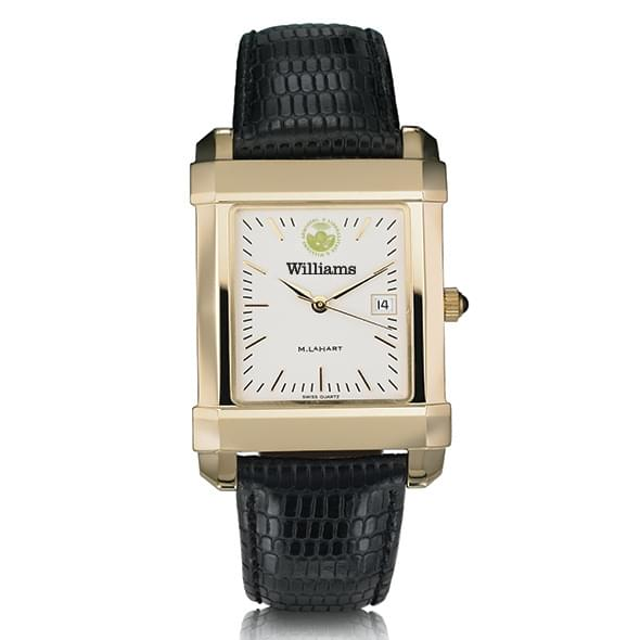 Williams College Men's Gold Quad with Leather Strap - Image 2