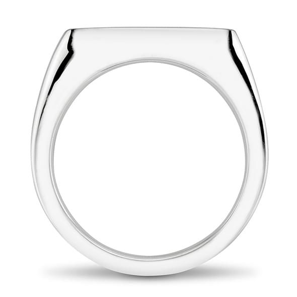 NYU Sterling Silver Square Cushion Ring - Image 4