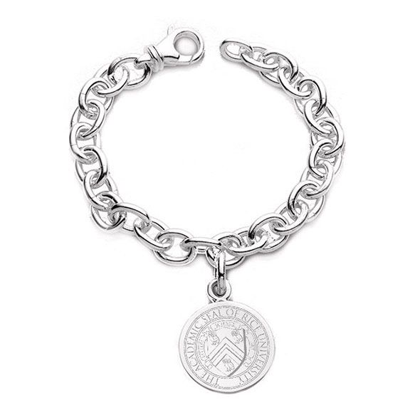 Rice University Sterling Silver Charm Bracelet - Image 1