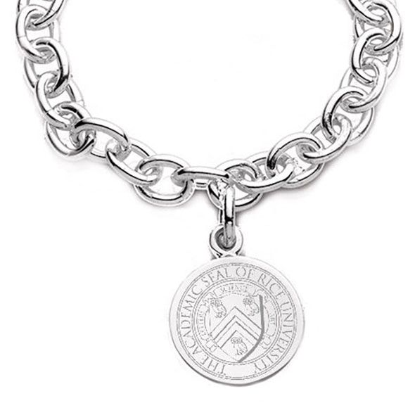 Rice University Sterling Silver Charm Bracelet - Image 2