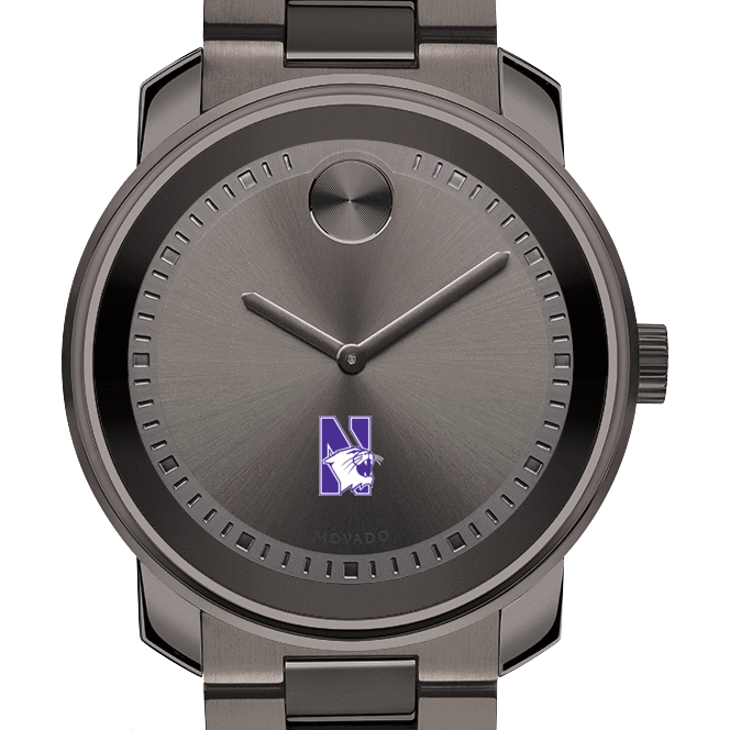 Northwestern Men's Movado BOLD Gunmetal Grey