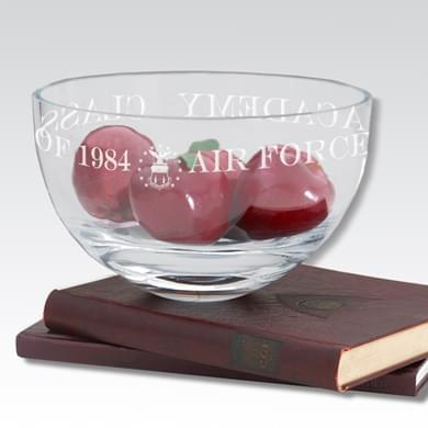 "USAFA 10"" Glass Celebration Bowl - Image 1"