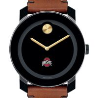 Ohio State Men's Movado BOLD with Brown Leather Strap