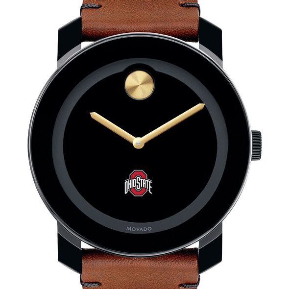Ohio State Men's Movado BOLD with Brown Leather Strap - Image 1