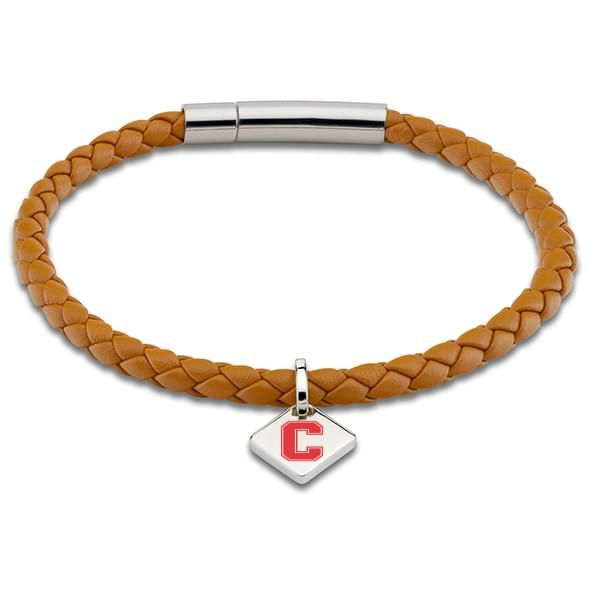 Cornell Leather Bracelet with Sterling Silver Tag - Saddle